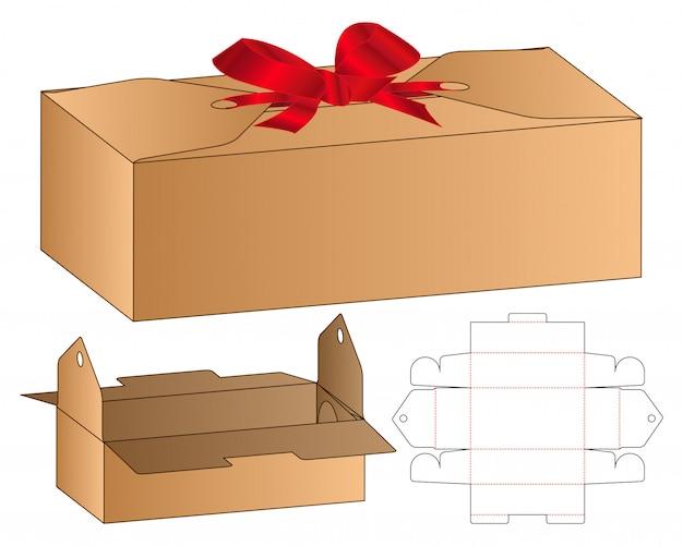 Diseño de plantilla de troquelado de embalaje de caja