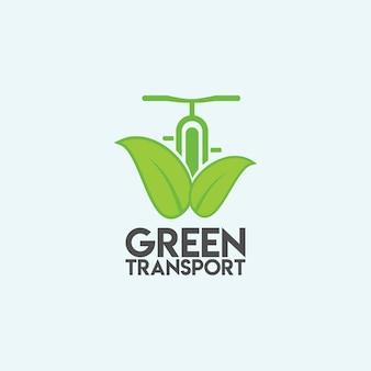 Diseño de plantilla de vector de transporte verde