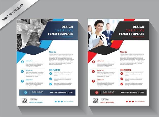 Diseño de plantilla de volante para el informe anual de diseño de portada