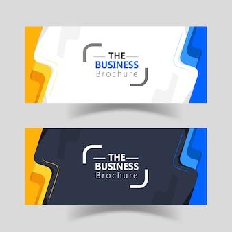 Diseño de plantillas de banner de web simple negocio moderno