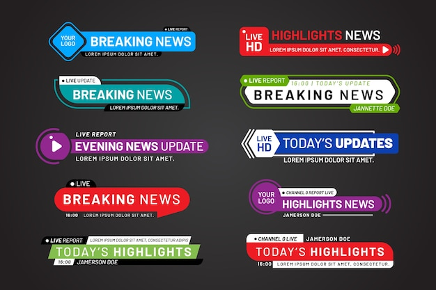 Diseño de plantillas de banners de noticias de última hora