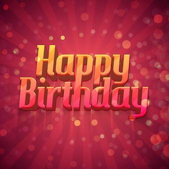 Diseño de plantillas de carteles, postales, tarjetas de felicitación, folletos, un feliz cumpleaños