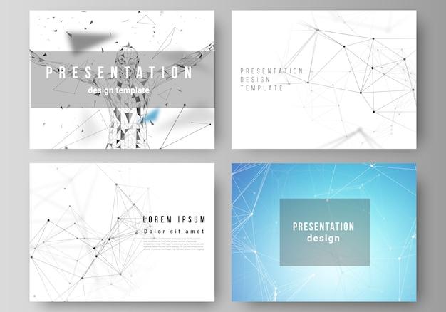 Diseño de las plantillas de diapositivas de presentación, tecnología, ciencia, medicina