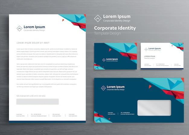 Diseño de plantillas de identidad corporativa de negocios de papelería clásica