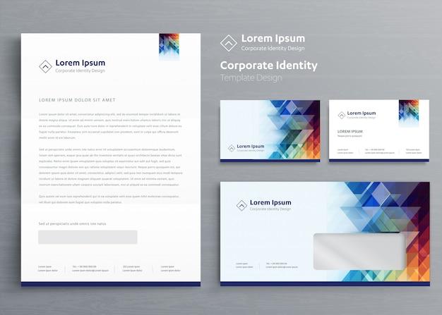 Diseño de plantillas de identidad corporativa de negocios