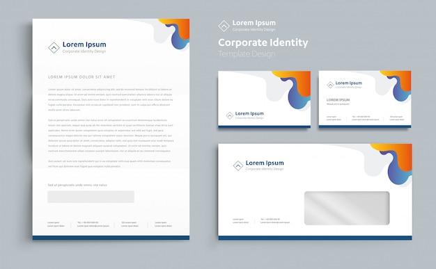 Diseño de plantillas de identidad corporativa.