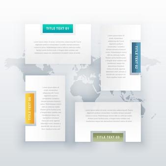 Diseño de plantillas de infografía de cuatro pasos