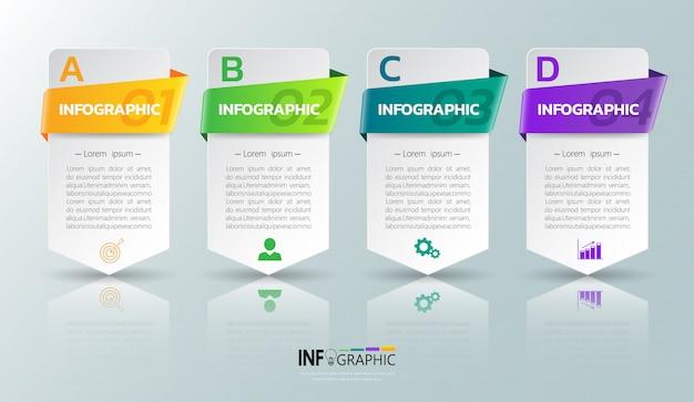 Diseño de plantillas de infografía.