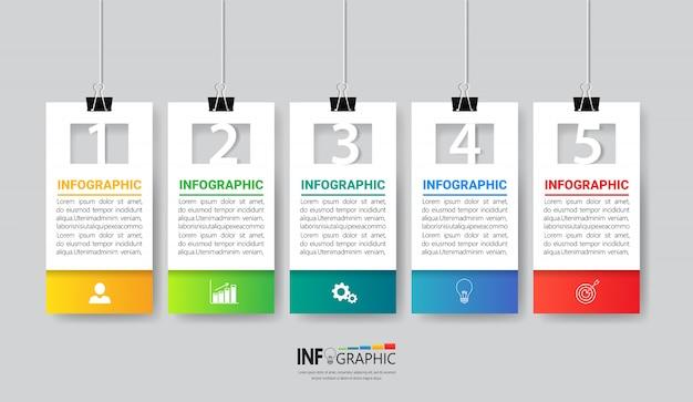 Diseño de plantillas de infografías de negocios.
