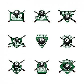 Diseño de plantillas de logos de billar