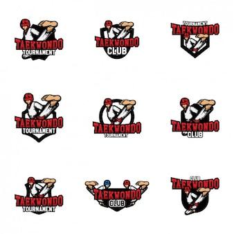 Diseño de plantillas de logos de taekwondo