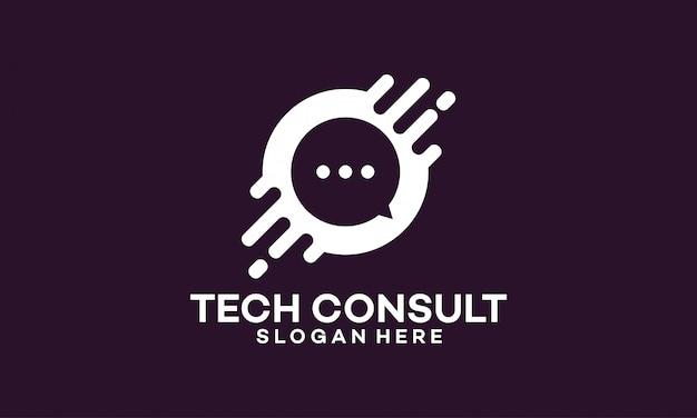 Diseño de plantillas de logotipo de technology consulting