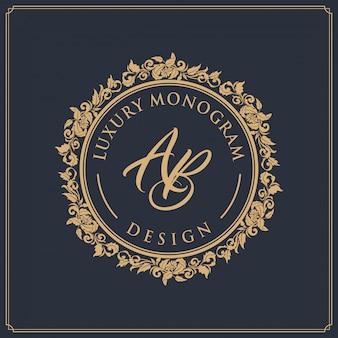 Diseño de plantillas de lujo para bodas y decoración.