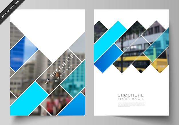Diseño de plantillas de maquetas de portadas modernas en formato a4 para folleto