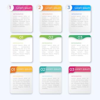 Diseño de plantillas de negocios infografía opciones