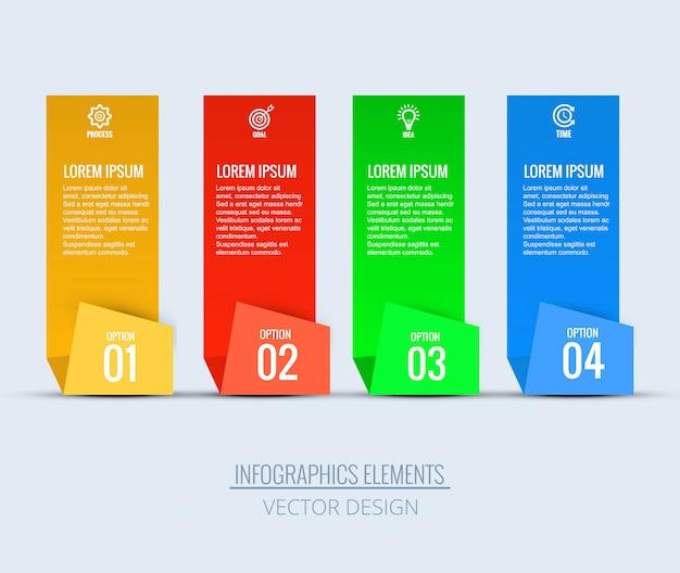 Diseño de plantillas de negocios de infografía