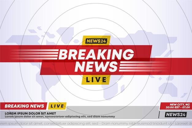 Diseño de plantillas de noticias de última hora