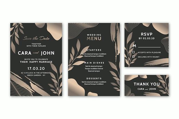 Diseño de plantillas de papelería de boda