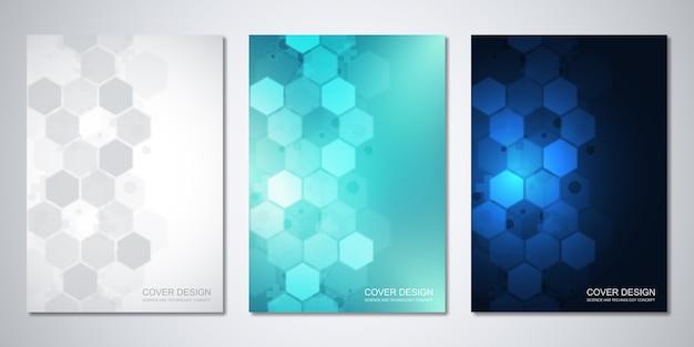 Diseño de plantillas con patrón abstracto de hexágonos