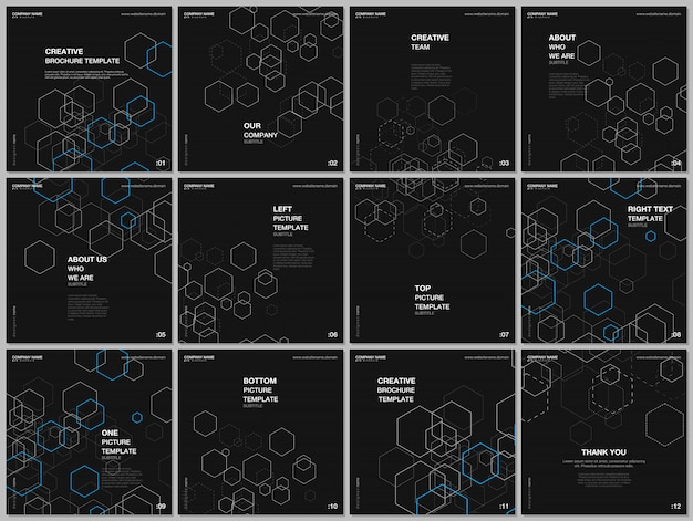 Diseño de plantillas de portadas para folleto publicitario