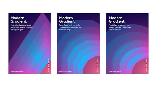 Diseño de plantillas de portadas de moda. vector minimalista cubre diseño. gradientes de semitono fresco