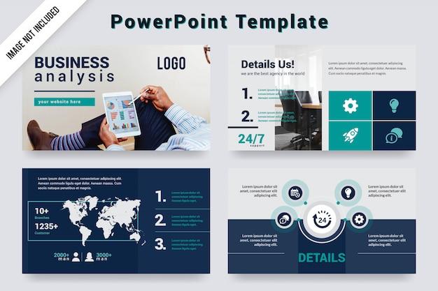 Diseño de plantillas de presentación de análisis de negocios.