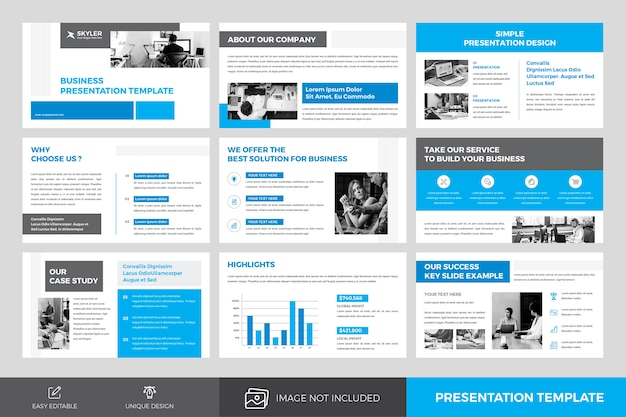 Diseño de plantillas de presentación de negocios
