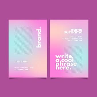 Diseño de plantillas de tarjetas de visita de marca