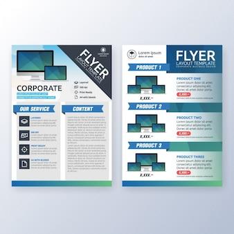 Diseño de platilla de folleto