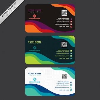 Diseño de platilla de tarjetas de visita