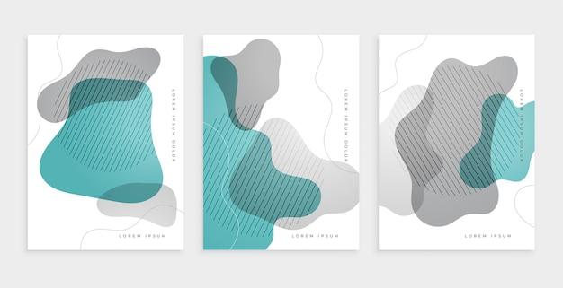 Diseño de portada abstracta con formas curvas