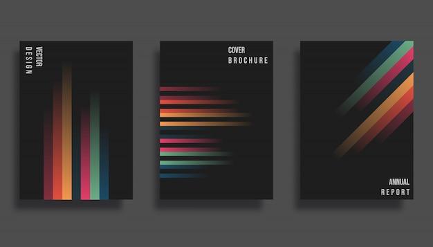 Diseño de portada abstracta.