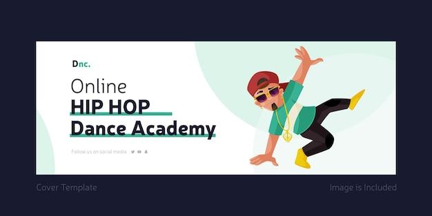 Diseño de portada de academia de baile hip hop en línea
