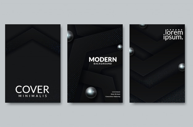 Diseño de portada de corte de papel abstracto. vector ilustración creativa