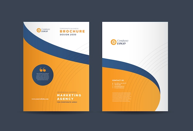Diseño de portada empresarial | informe anual y portada del perfil de la empresa | folleto y portada del catálogo