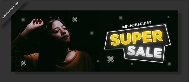 Diseño de portada de facebook y publicación de redes sociales del viernes negro