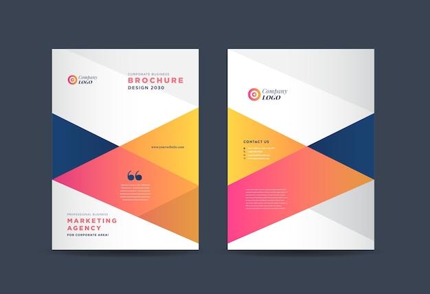 Diseño de portada de folleto comercial | informe anual y perfil de la empresa cover | folleto y portada del catálogo