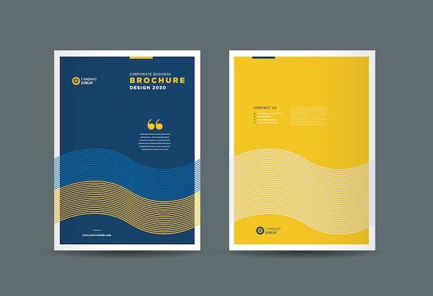 Diseño de portada de folleto comercial