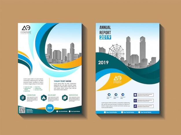 Diseño de portada de folleto de libro de negocios