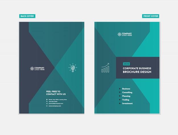 Diseño de portada de folleto de negocios