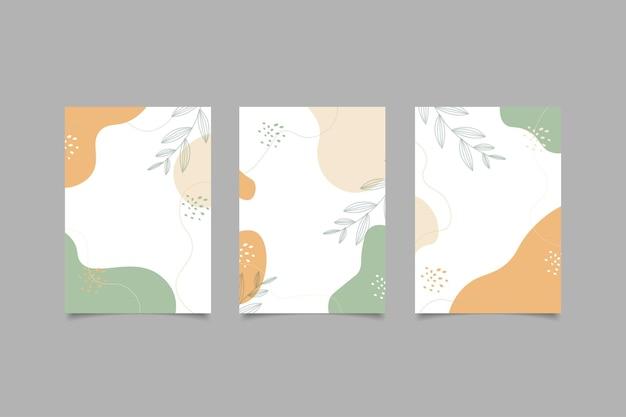 Diseño de portada fondo abstracto natural