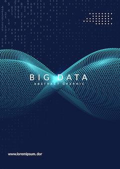 Diseño de portada de grandes datos. tecnología para visualización.