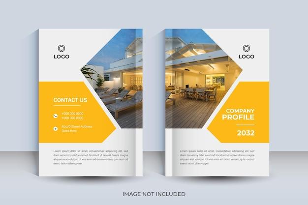 Diseño de portada de libro corporativo a4 y plantilla de informe anual y revista