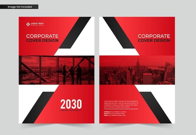 Diseño de portada de libro de negocios corporativos y plantilla de informe anual y revista