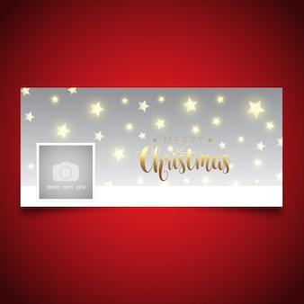 Diseño de portada de línea de tiempo de navidad
