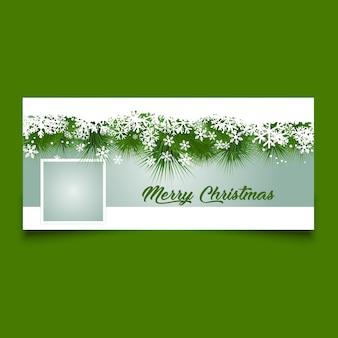 Diseño de portada de la línea de tiempo de navidad