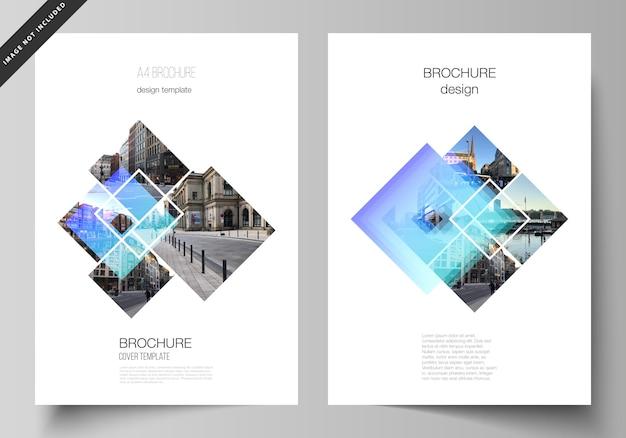 Diseño de portada moderna en formato a4