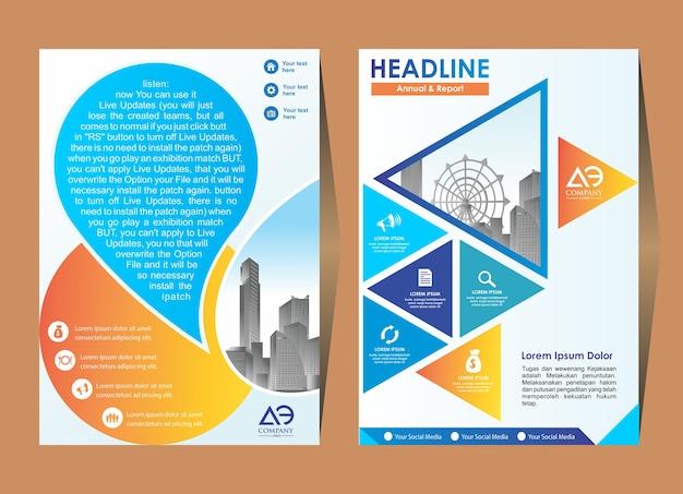 Diseño de portada plantilla flyer diseño poster revista informe anual