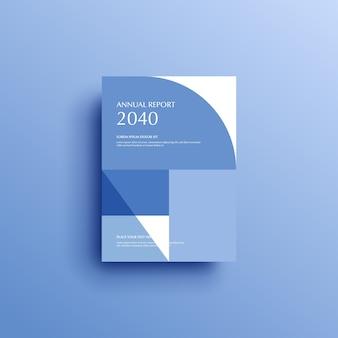 Diseño de portada de plantilla de volante de folleto de portada de libro de fondo geométrico