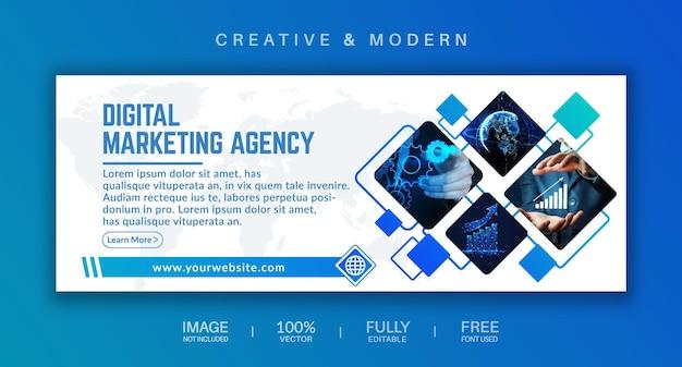Diseño de portada de redes sociales y banner web.